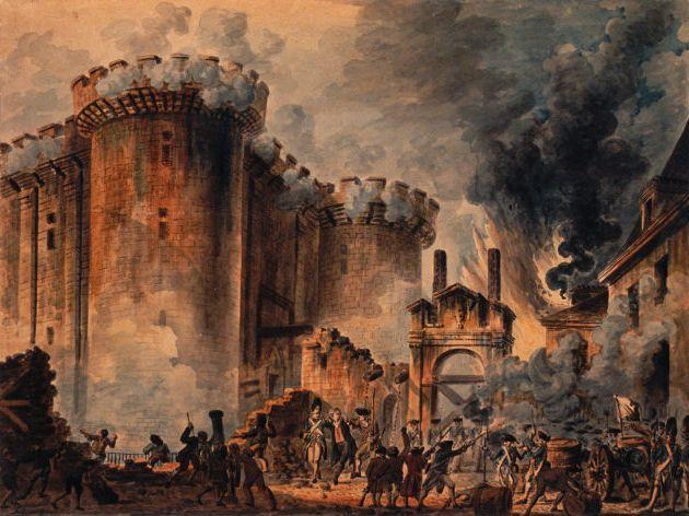 Storming the Bastille, July 14, 1789 Y A rumor that the king was planning a military coup against the National