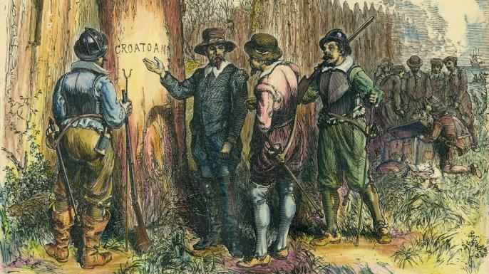 Between 1584 and 1589, he helped establish a colony near Roanoke Island (present-day North Carolina), which he named Virginia.
