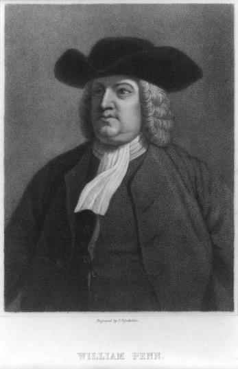 William Penn Indentured servant In 1680 William Penn, a wealthy English Quaker, received the land in payment for a debt King Charles owed Penn's father. Pennsylvania, or Penn's Woods.