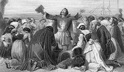 "Puritans Mayflower Compact The name ""puritan"" came to be used to describe members of the Church of England who wished to purify it of all semblances to the Roman Catholic Church."