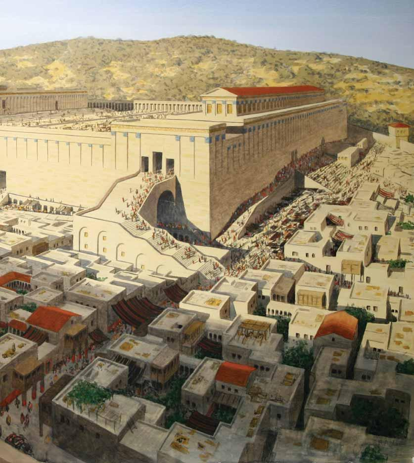 The Second Temple Mount of Olives Solomon s Porch Royal Stoa Soreg Place of Trumpeting Triple