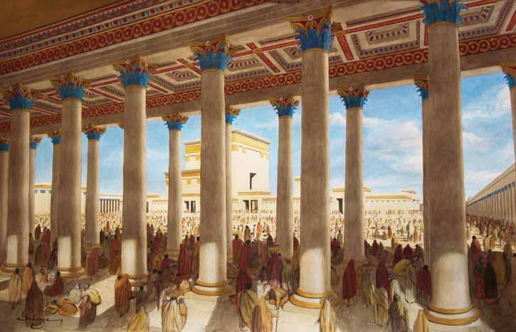 The Second Temple The New Temple Mount: Porches, Gates, and Courts THE PORCHES (STOAS) The Royal Stoa At the southern end of his extended platform, Herod built a monumental multi-storied basilica