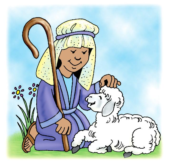 Shepherd Care Compare the care a shepherd gives his sheep with the care Jesus gives His people. Draw a line to connect sentences that match. 1. The shepherd knows each sheep of his flock. A.