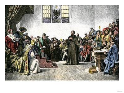 He was excommunicated Defended views at Diet of Worms Imperial