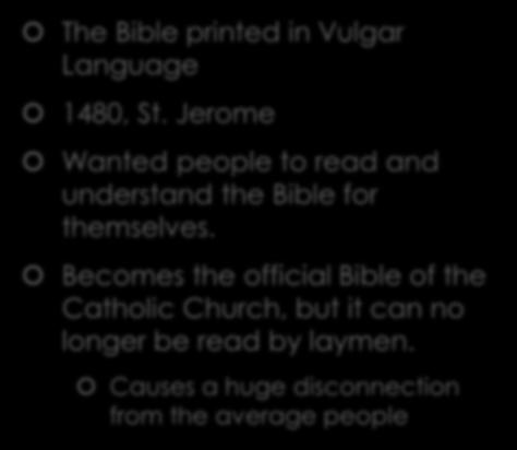 The Bible The Bible printed in Vulgar