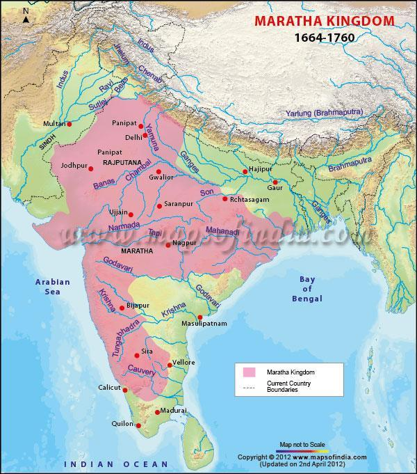 Maratha Empire after death of