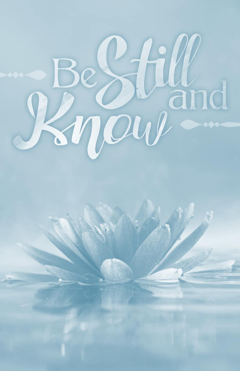Devotional Prayer Journal Be still, and