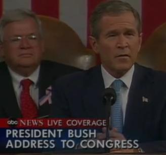 George Bush's Address to Congress September 20, 2001 List things George