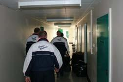 Ian, Chris, Arthur and Simon on a visit to Guernsey prison The feed back we receive from