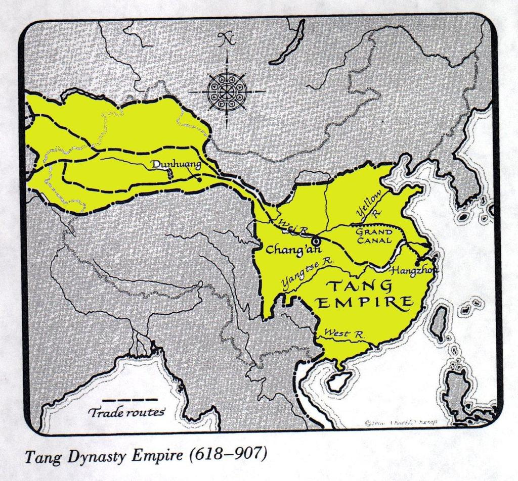 2. THE TANG AND SONG DYNASTIES OF CHINA Like Western Europe after the decline of the Roman Empire, China entered a long period of turmoil and unrest after the collapse of the Han Dynasty in 220 A.D. As in the West, the advance of the Huns helped plunge China into disunity.