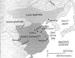 SONG DYNASTY (960-1279) After the fall of the Tang Dynasty in 907, China again shrank in size. In 960, the Song Dynasty emerged in the south.