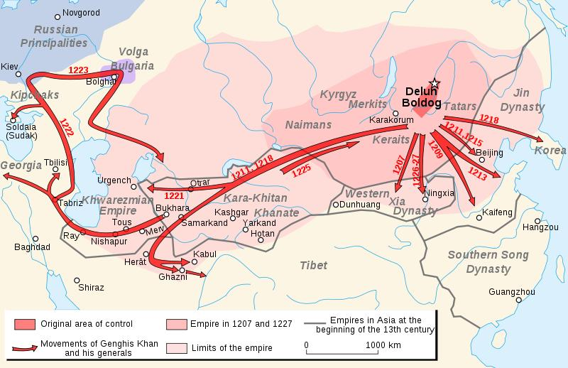 CHINGGIS KHAN UNITES THE MONGOLS Like other nomadic peoples, the Mongols were divided into several loosely organized tribes.