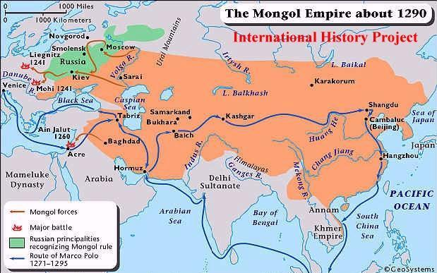 MONGOL INFLUENCE ON RUSSIA In the 13 th century, Mongol warriors also conquered most of Russia. They controlled it for the next 200 years.