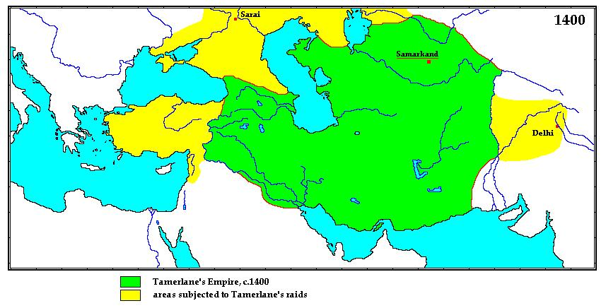 THE RULE OF TAMERLANE In the 14 th century, Mongol power enjoyed a brief resurgence in Central Asia.