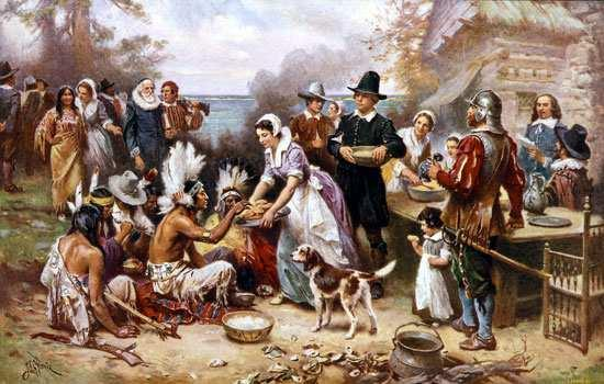 Pilgrims -colony struggled but received Indian help to grow crops Thanksgiving Squanto Were friendly with the natives -William Bradford Of Plymouth Plantation Plymouth's Thanksgiving began with a few