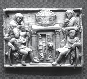 ILLUSTRATOR PHOTO/ BRITISH MUSEUM/ LONDON (31/26/22) Dating to the early in the 5th Century, one side of an ivory box with scenes depicting Christ s Passion.