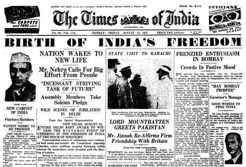 India s Independence India gains its independence from Britain in 1947 Muslim Pakistan splits from Hindu India; violence, migrations