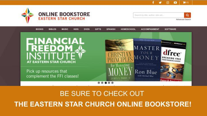 Eastern Star Church Online Bookstore Available 24/7 Written by Stacey Moore Eastern Star Church (ESC) continues to evolve in the use of technology to effectively and efficiently serve the