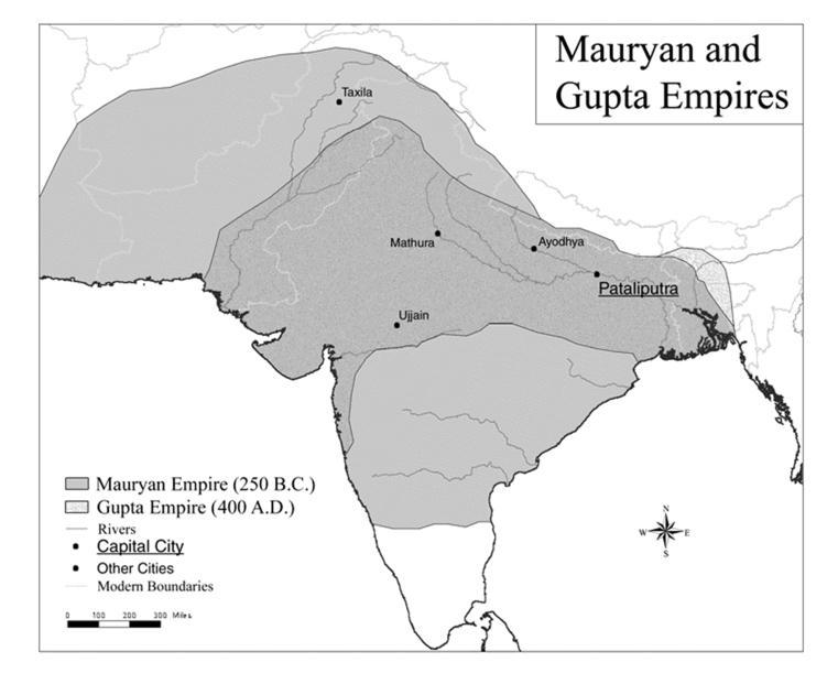 Dates: Indian Empires the Guptas The Gupta empire was founded by (no relation to the Maurya s Chandragupta Maurya.) The Guptas ushered in India s which marks a time of great prosperity & achievement.