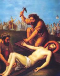 Eleventh STATION Jesus Is Nailed to the Cross It was nine o clock in the morning when they crucified him. The inscription of the charge against him read, The King of the Jews.
