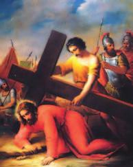 Third STATION Jesus Falls the First Time Surely he has borne our infirmities and carried our diseases; yet we accounted him stricken, struck down by God and afflicted.