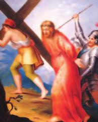 Fifth STATION Simon of Cyrene Helps Jesus Carry the Cross As they led him away, they seized a man, Simon of Cyrene, who was coming from the country, and they laid the cross on him and made him carry