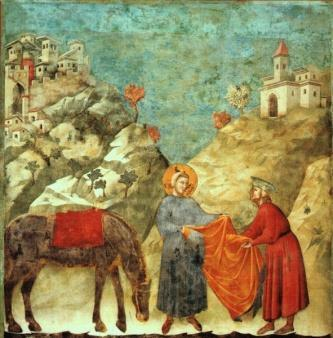 Giotto s figures stood firmly on the ground, became smaller as they receded in