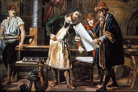 Gutenburg s Revolution in Printing, cont d The invention of movable type, along with the use of a special press and oil-based inks,