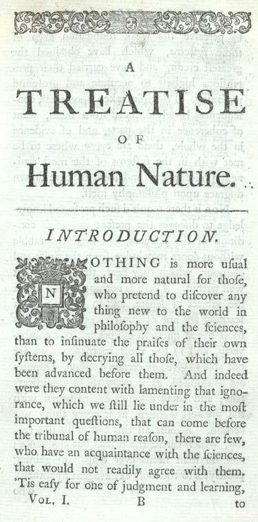 David Hume (1711-1776) Treatise of
