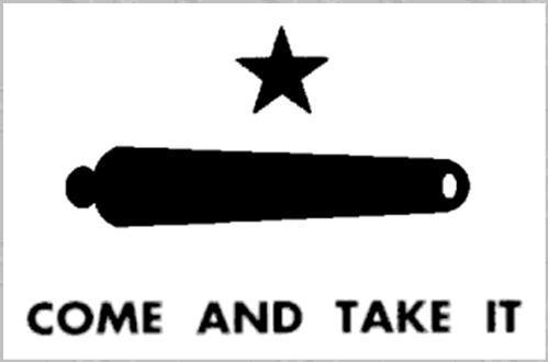 Texans Revolt against Mexico the Mexican army tried to remove a cannon from the town of Gonzales, Texas. Rebels stood next to the cannon.