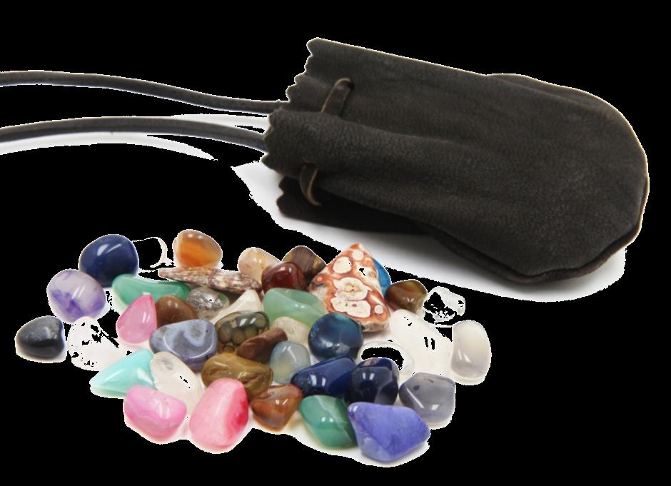 Intuiting Color Energy from Stones Become comfortable & focus on breathing Reach into a bag of