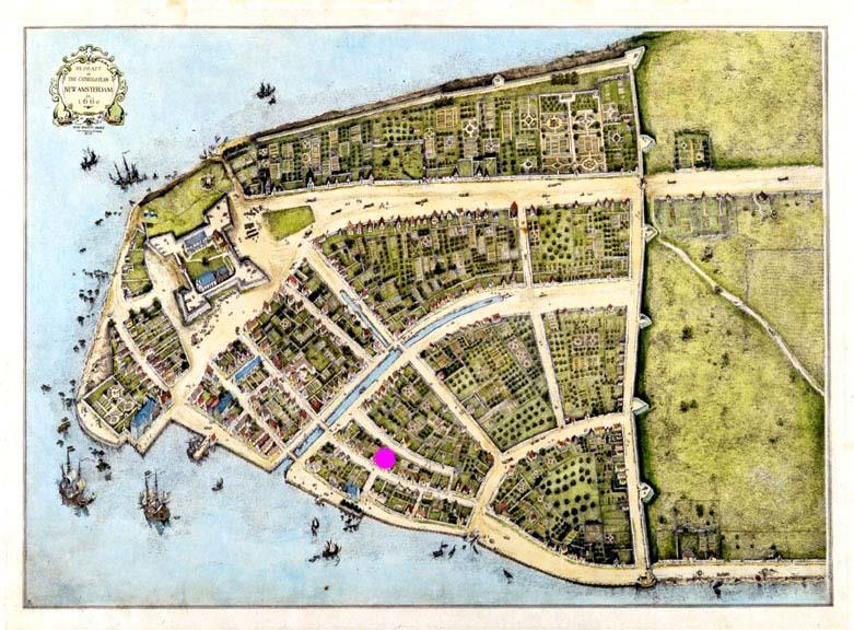 Dutch founded colony at New Amsterdam English take New Amsterdam in 1664 & rename it New