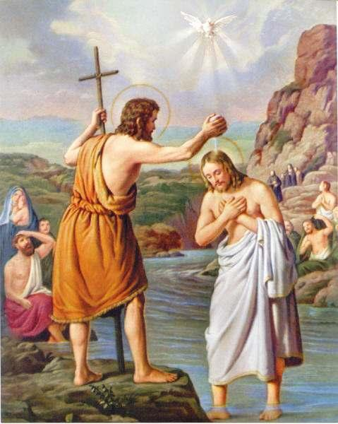 "Friends of Jesus and Mary Baptism of the Lord, January 8, 2018 Readings: Isaiah 42: 1-4, 6-7; Psalm 28; Acts 10, 34-38; Mark 1, 7-11 This is what John the Baptist proclaimed: ""One mightier than I is"