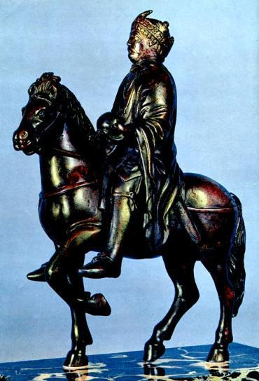 Age of cavalry Note the imitation of the equestrian statue of the Marcus Aurelius in
