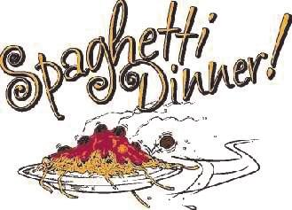 Meal consists of spaghetti with meat sauce, meatballs, bread stick, salad, desert, tea/ coffee and complimentary wine. Price is $9 for adults; $4 for children.