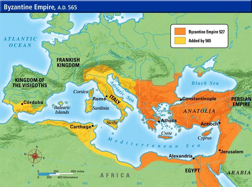 Although many would take the fall of the city of Rome as the end of the empire, the emperors in the east did not.