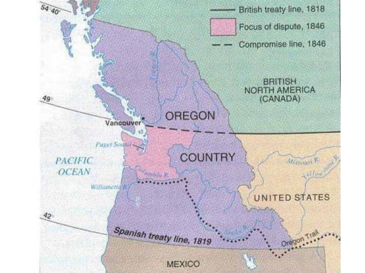 annexation of the Oregon Territory decline of fur trade waned GB s