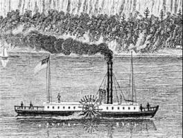 Morse- 1837 23,000 miles by 1854 steamboats essential to