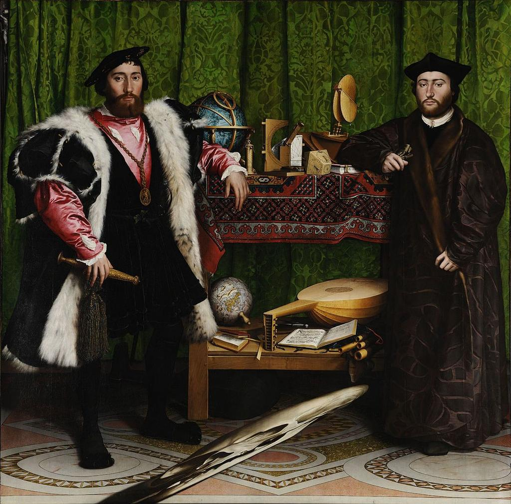 Holbein s (Hul-bain) The French Ambassadors National Gallery in London Education = loss of