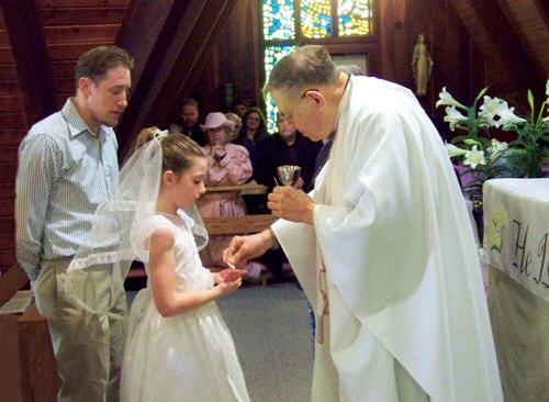DURING COMMUNION 305: The celebrant should also pay attention to any previously baptized children