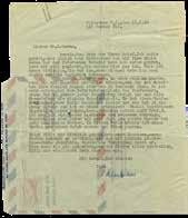 Various topics, and regarding Einstein s agreement for the new school to be named after him and his wife. * [1] leaf, airmail. Printed, German, with Einstein s stamp and handwritten signature.