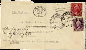 21 14 cm. Accompanied by an original envelope with Princeton stamps, dated 24.10.33. German. Letter s content: Library Place, 2 24.10.1933 Dear Mrs. Stampe!