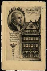 Paris; a rare postcard with a front view of the Rothschild family home in Frankfurt, and the portraits of the family s parents James Mayer de Rothschild, Betty