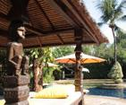 The owner s Richard and Tini have created a tropical haven set in lush gardens in typical Balinese style. The hotel boasts two swimming pools and a luxurious spa for on-site pampering.