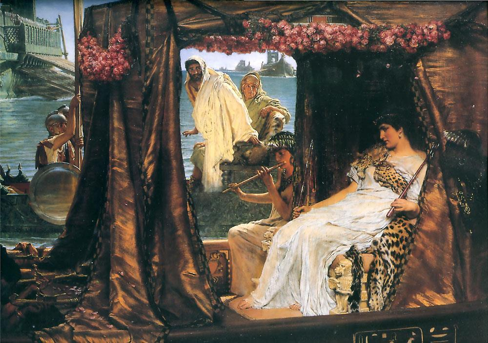 Antony and Cleopatra Antony and Cleopatra had an affair for several years. He married her using Egyptian customs because he was already married to Octavia. They had three children together.