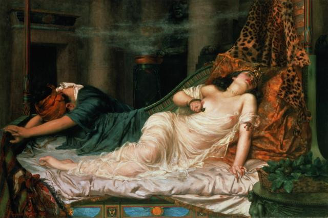 Cleopatra was captured by the Romans Several days later Cleopatra had her servant sneak in two poisonous snakes and she had them bite her.