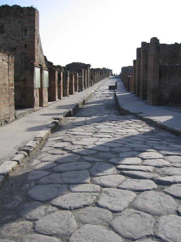 The Romans built thousands of miles of roads to connect their large empire.
