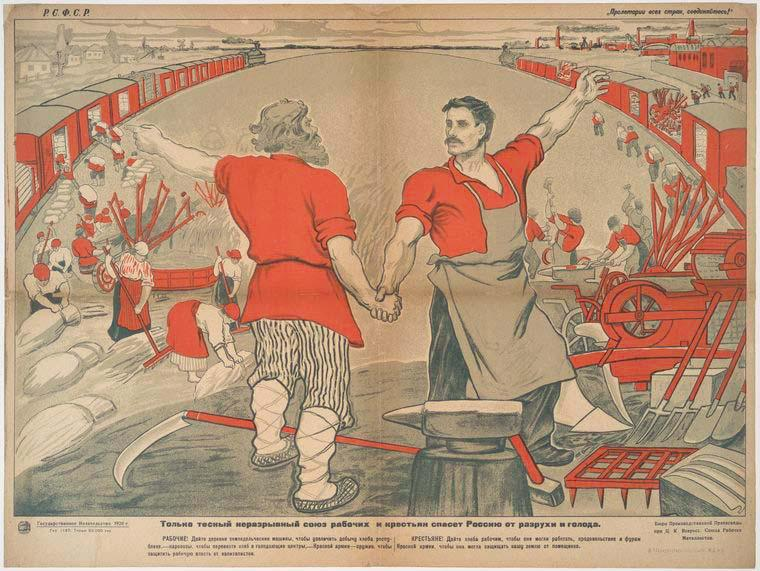 Russian Civil War, 1917-1922 Red Army: over 5,000,000 men (mainly peasant draftees) 50,000 officers from former Imperial Army White Armies many distinct armies supported by Britain, USA, Japan Only