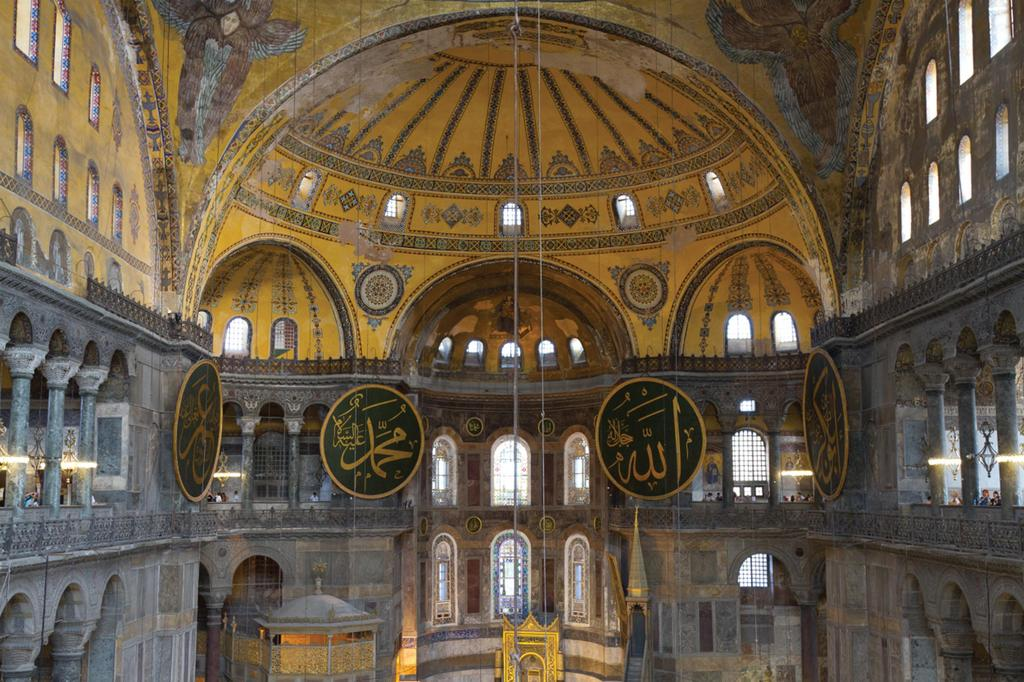 Figure 10.3 A view of the interior of the Hagia Sophia, or St.