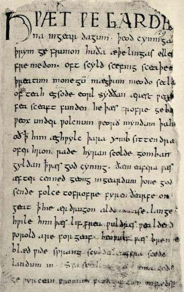 Beowulf was written in Old English between the 8 th